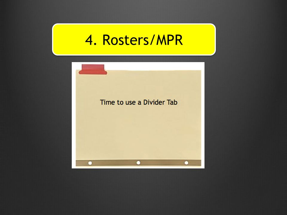 4. Rosters/MPR