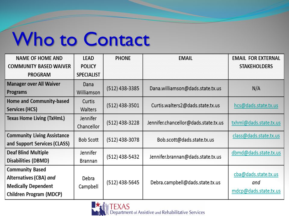 Who to Contact