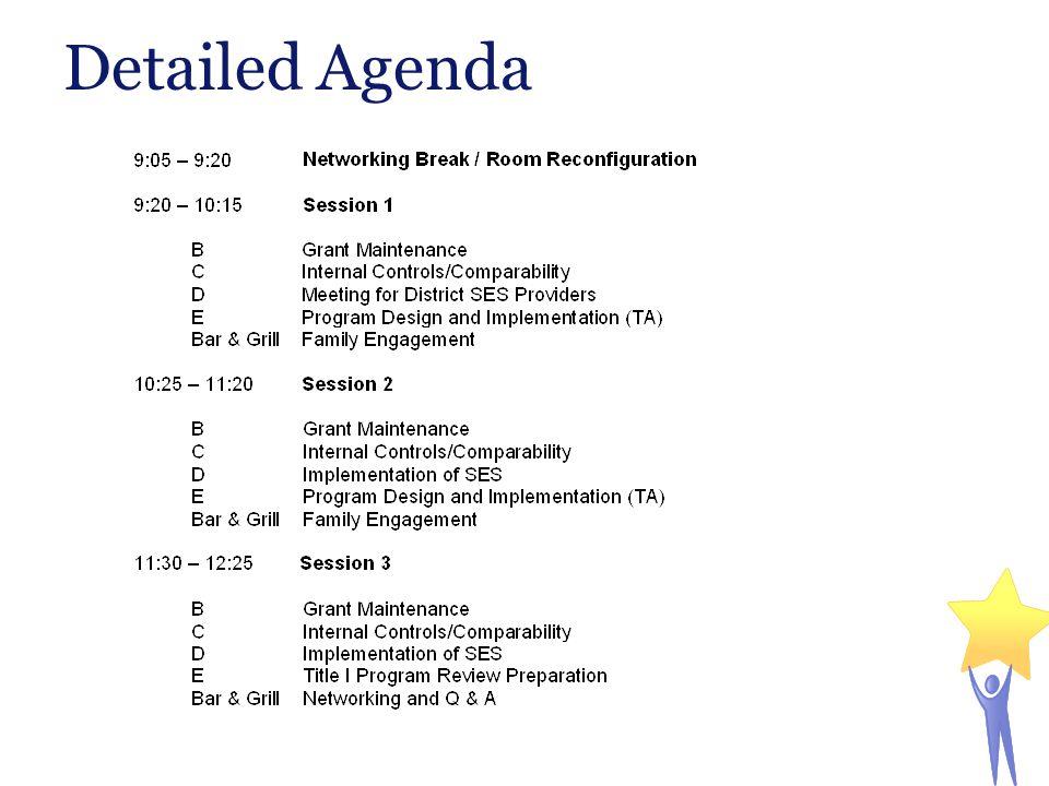 Detailed Agenda