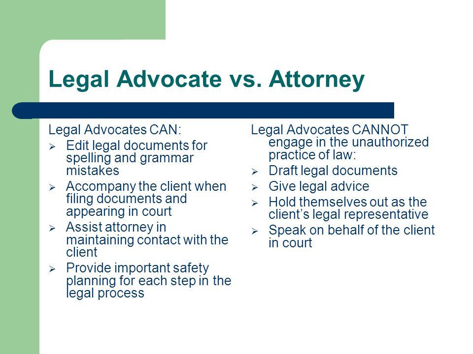 Legal Advocate vs.