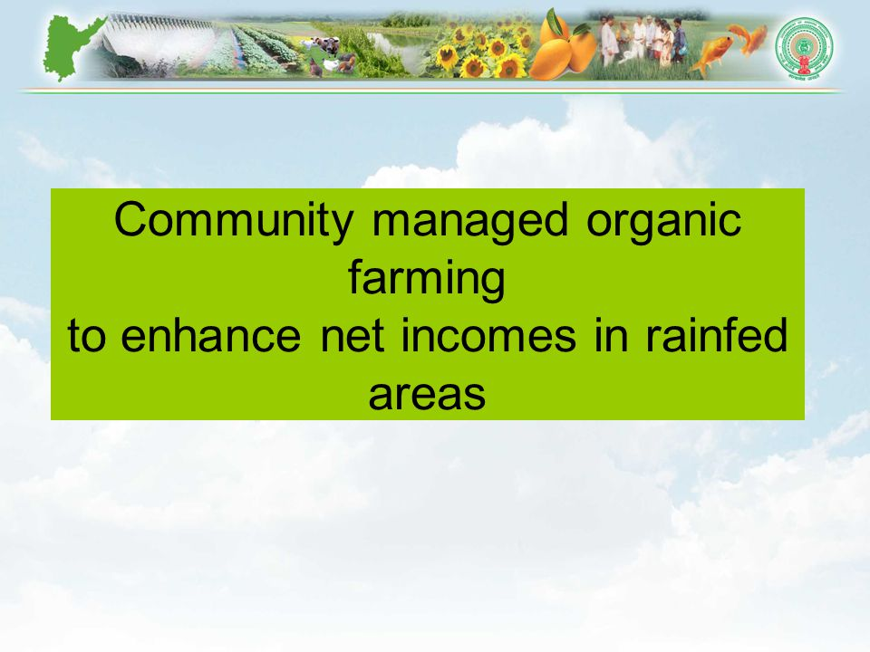 Community managed organic farming to enhance net incomes in rainfed areas