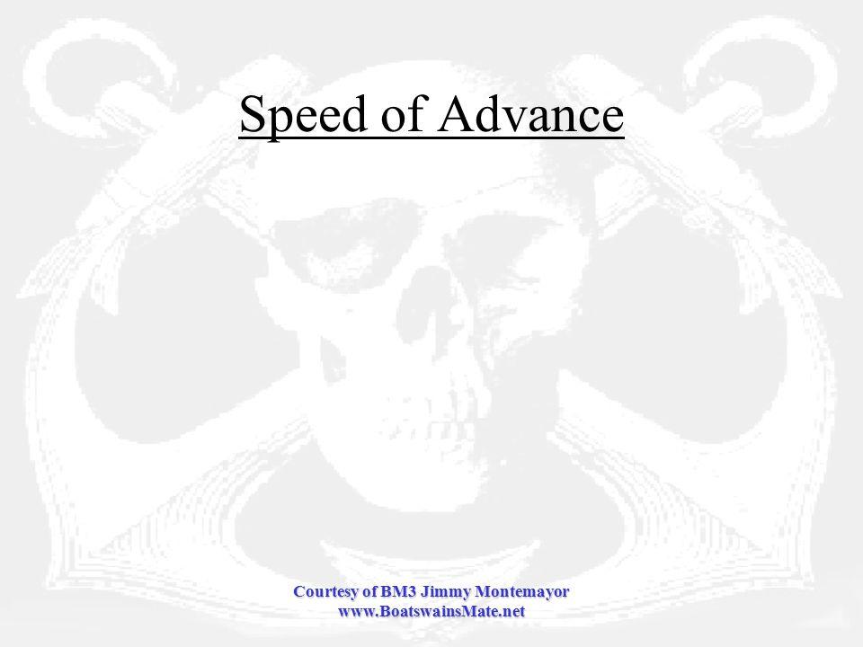 Courtesy of BM3 Jimmy Montemayor www.BoatswainsMate.net Speed of Advance