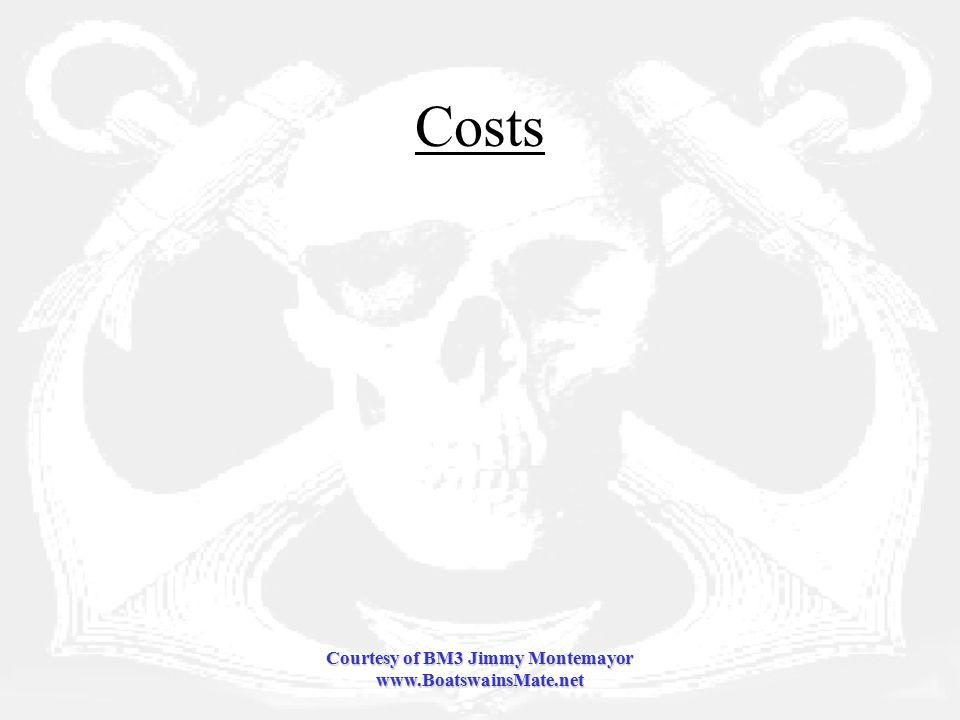 Courtesy of BM3 Jimmy Montemayor www.BoatswainsMate.net Costs