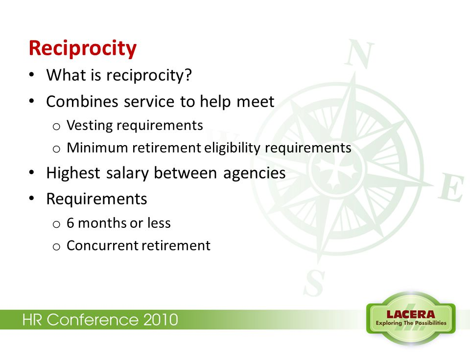 Reciprocity What is reciprocity.