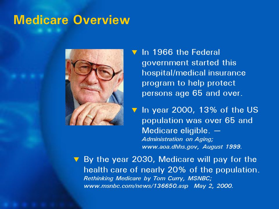 Medicare consists of two parts — A & B: Medicare Today Medicare Part A  Hospital Room & Board.