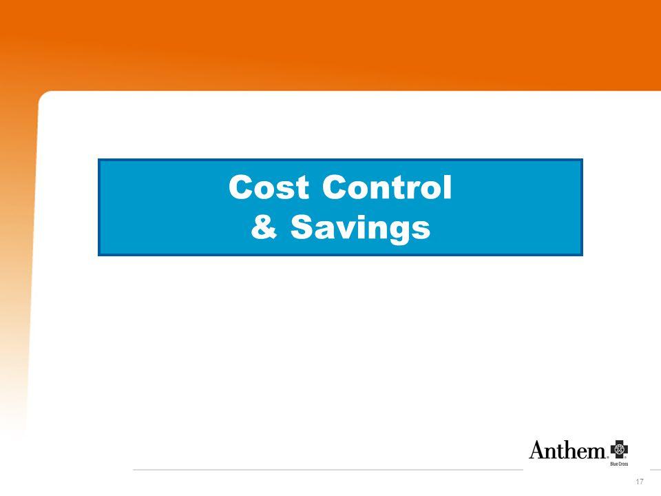 17 Cost Control & Savings