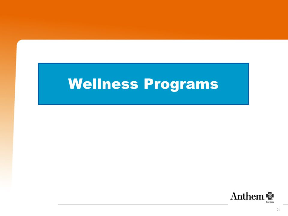 21 Wellness Programs