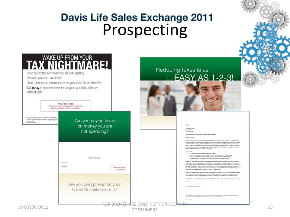 Prospecting LMG3198v081115 FOR BROKER USE ONLY. NOT FOR USE WITH CONSUMERS.