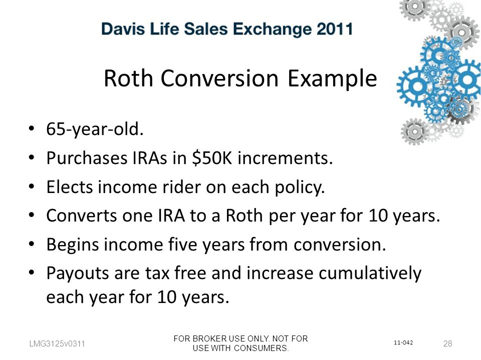 Roth Conversion Example LMG3125v0311 FOR BROKER USE ONLY.