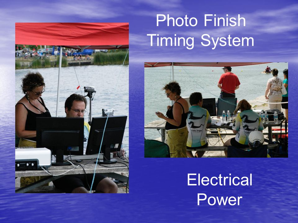 Photo Finish Timing System Electrical Power