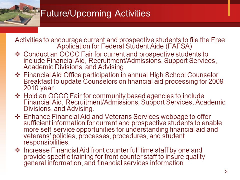 4 Future/Upcoming Activities Cont.