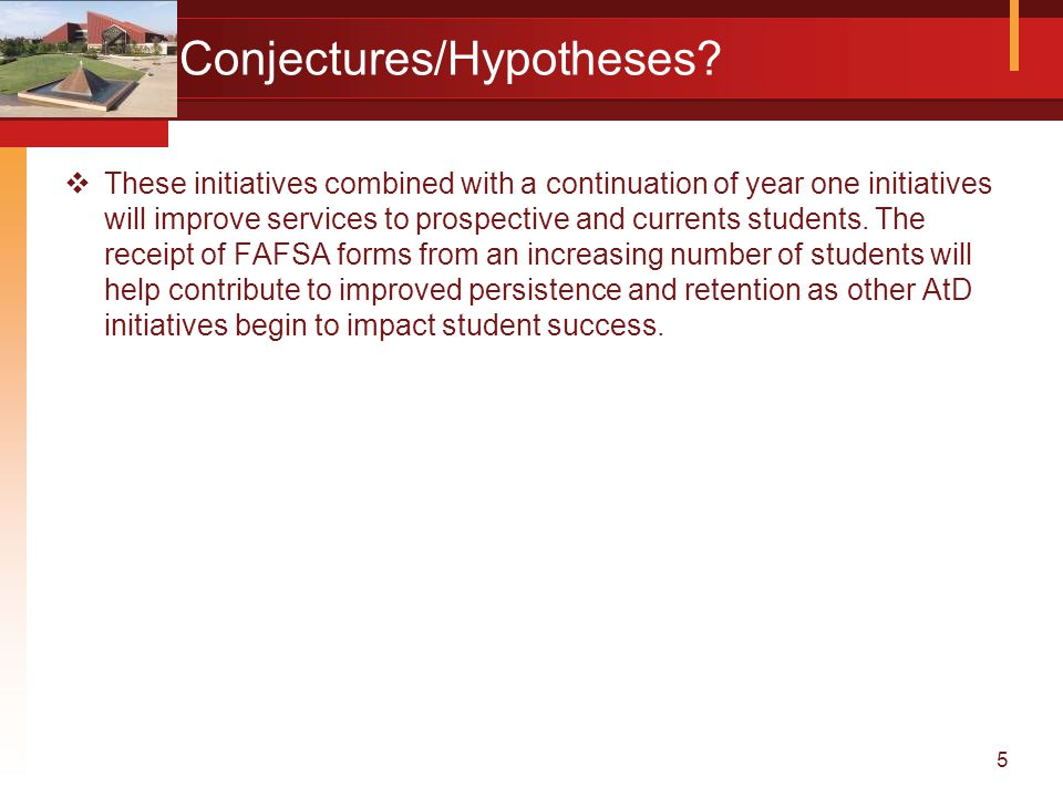 5 Conjectures/Hypotheses.