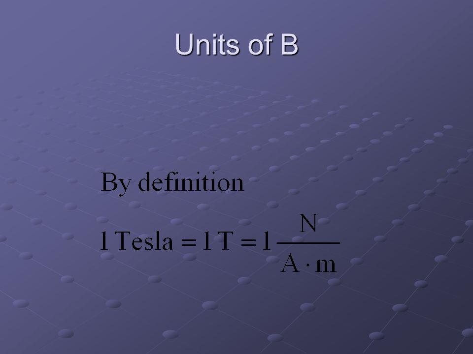 Units of B
