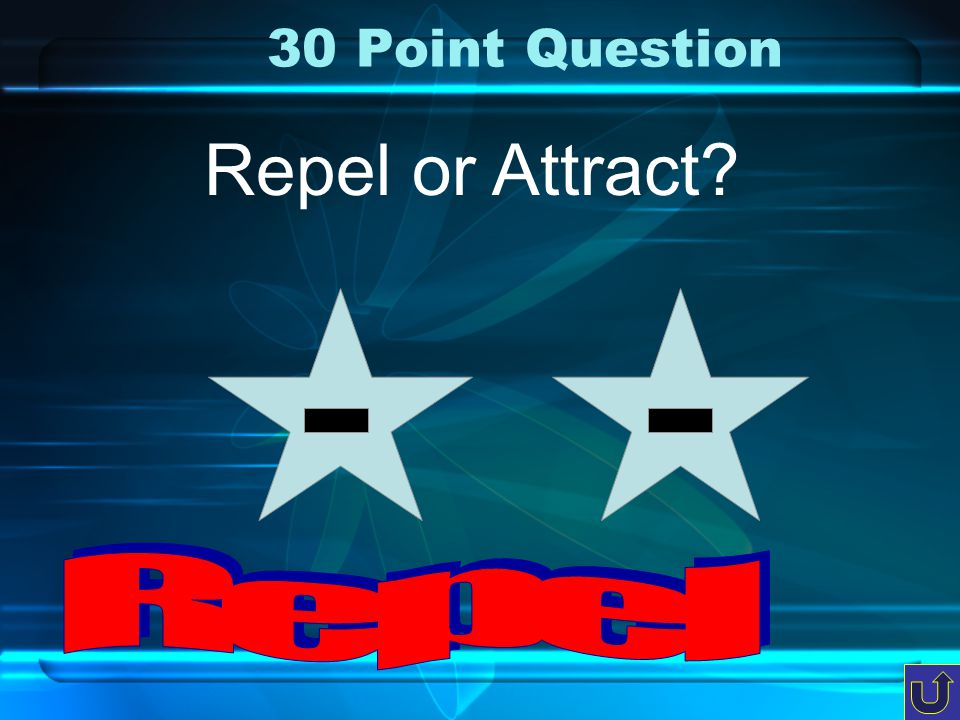 20 Point Question Repel or Attract?