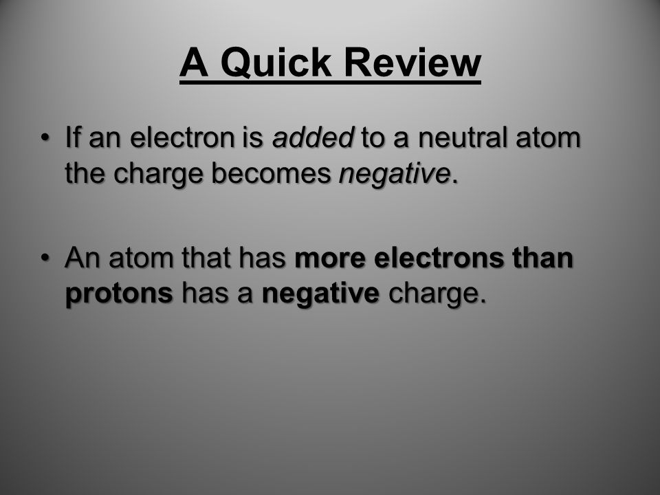 A Quick Review Protons and Neutrons are in the Nucleus of the atom.