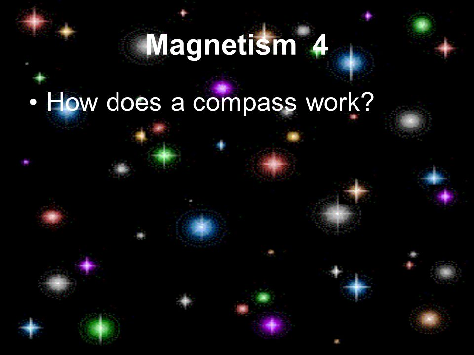 Magnetism 4 How does a compass work?