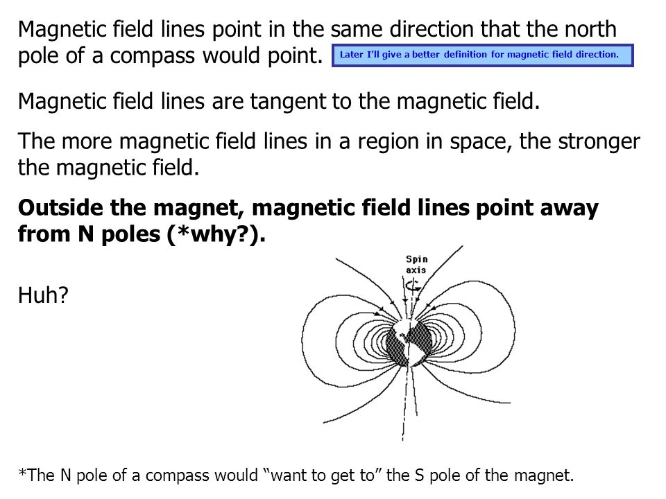 For those of you who aren't going to pay attention until you have been told the secret behind the naming of the earth's magnetic poles… The north pole of a compass needle is defined as the end that points towards the geographic Santa Claus north pole, which experts in the field of geomagnetism call the geomagnetic north or the Earth's North Magnetic Pole. If you think about it, the people to whom compasses meant the most— sailors—defined magnetic north as the direction the north poles of their compass needles pointed.