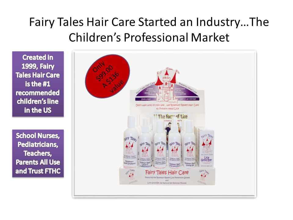 Fairy Tales Hair Care Started an Industry…The Children's Professional Market Only $99.00 A $136 value