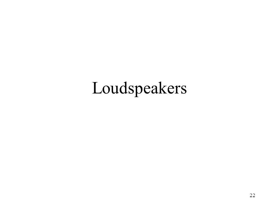 22 Loudspeakers