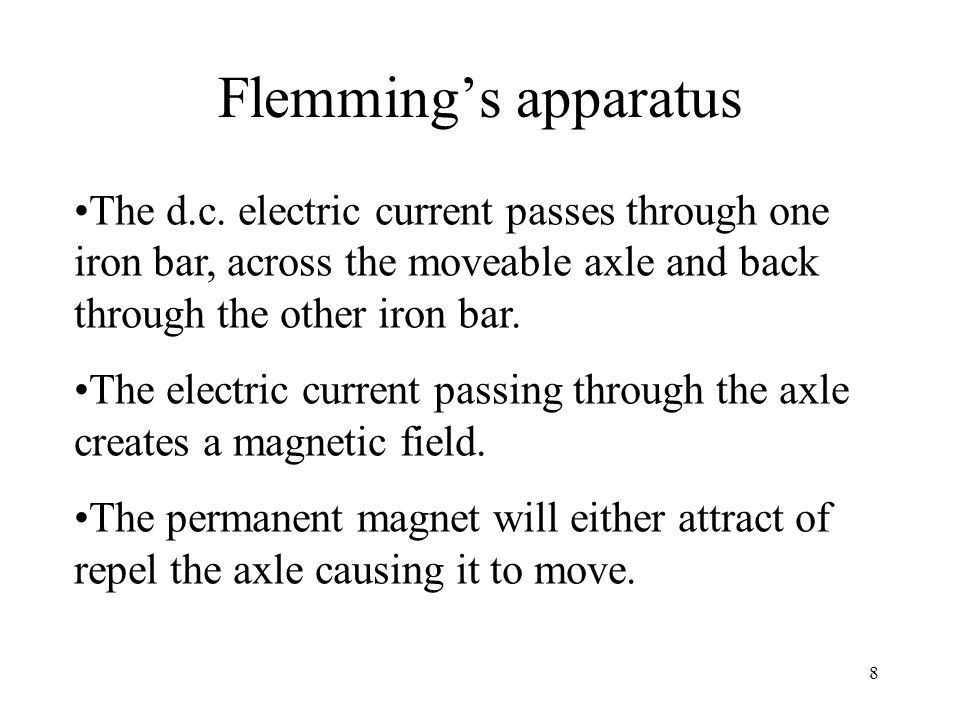 Rings and brushes The electric current passes from the contact to the ring – they 'brush' each other.