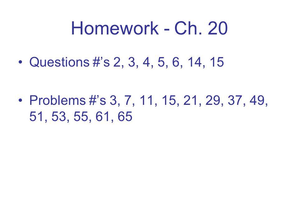 Homework - Ch.