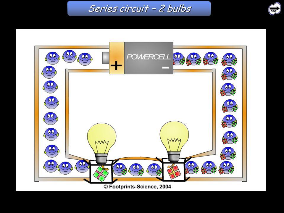 Series circuit – 2 bulbs Series circuits – 2 bulbs