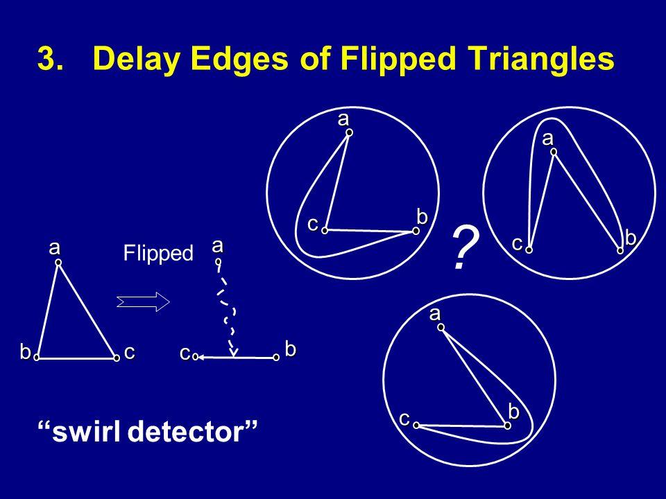 3.Delay Edges of Flipped Triangles swirl detector ab c Flippedac b a c b a c b ac b