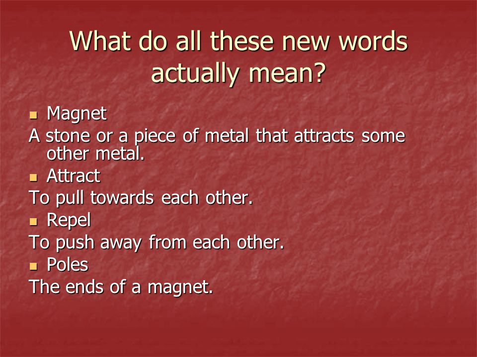 What do all these new words actually mean.
