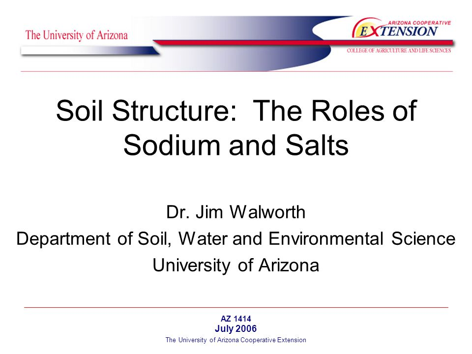 The University of Arizona Cooperative Extension Soil clay particles can be unattached to one another (dispersed) or clumped together (flocculated) in aggregates.