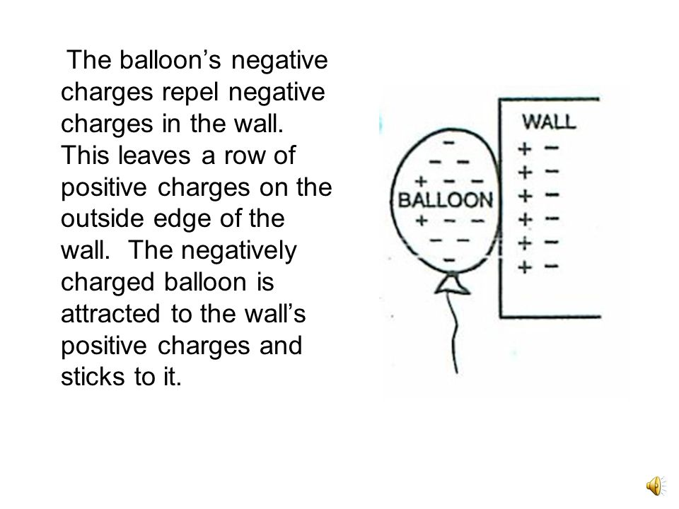 A balloon has no overall charge. There are as many negative charges as there are positive charges.