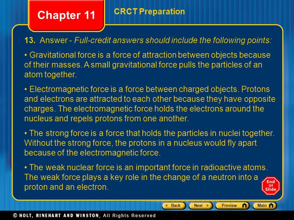 < BackNext >PreviewMain CRCT Preparation Chapter 11 13.