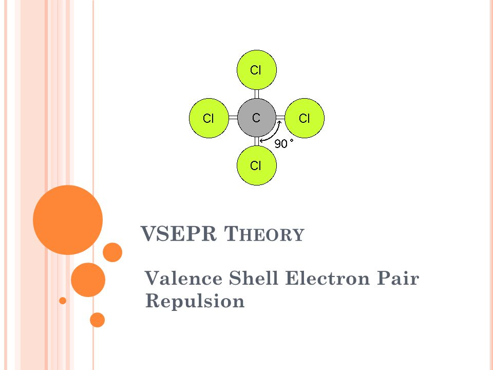 VSEPR THEORY: AT THE CONCLUSION OF OUR TIME TOGETHER, YOU SHOULD BE ABLE TO: 1.