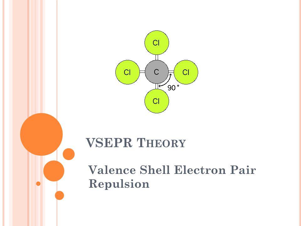 VSEPR T HEORY Valence Shell Electron Pair Repulsion