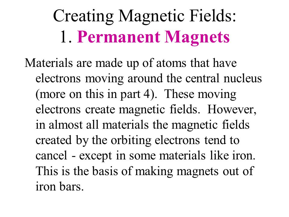 Creating Magnetic Fields: 1.