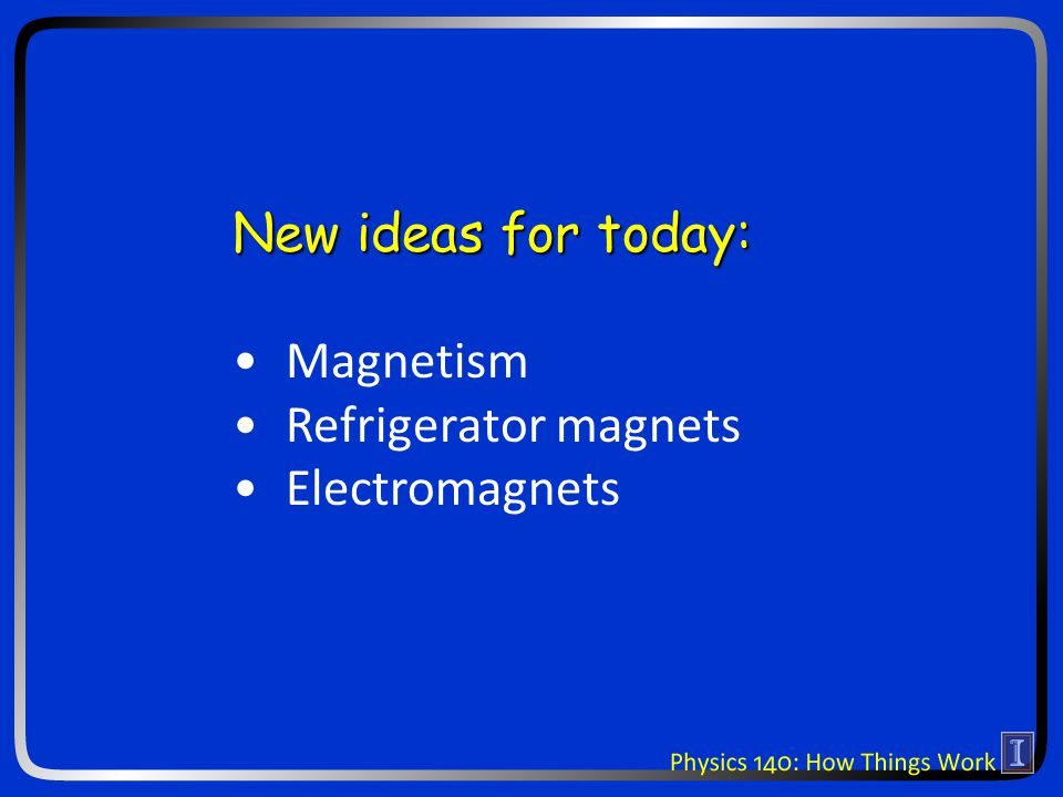 Electromagnetism I n n Magnetic fields n n Push on magnetic poles n n Electric fields n n Push on electric charges