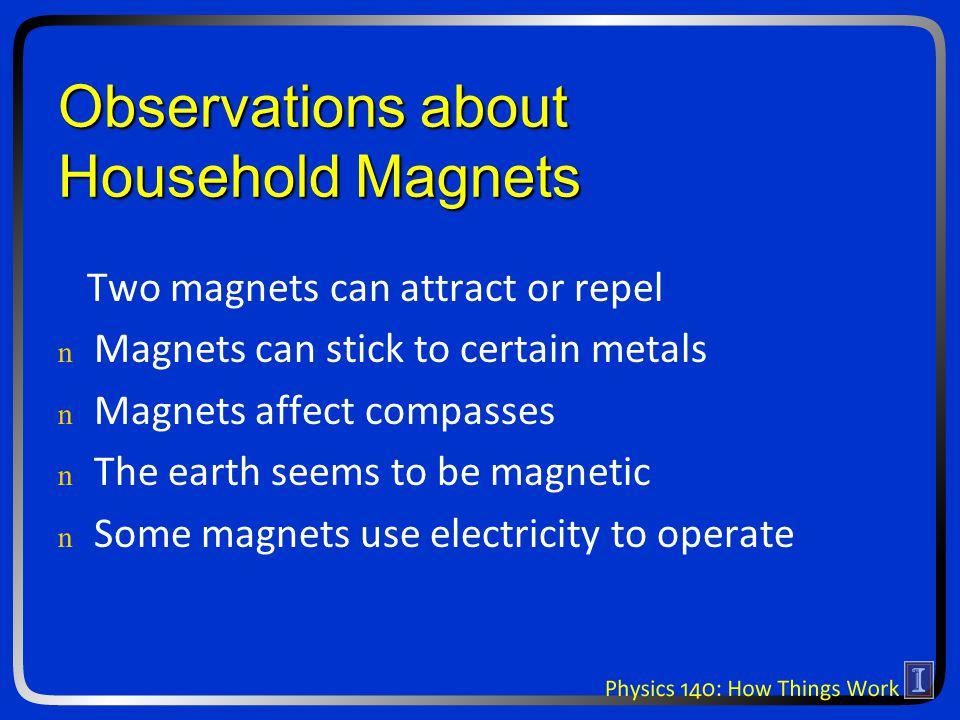 Electromagnetism I n n Magnetic fields n n Push on magnetic poles n n Bend moving electric charges n n Electric fields n n Push on electric charges