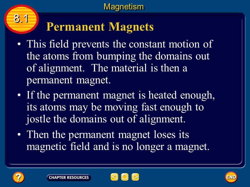 A permanent magnet can be made by placing a magnetic material, such as iron, in a strong magnetic field. Permanent Magnets 8.1 Magnetism The strong ma