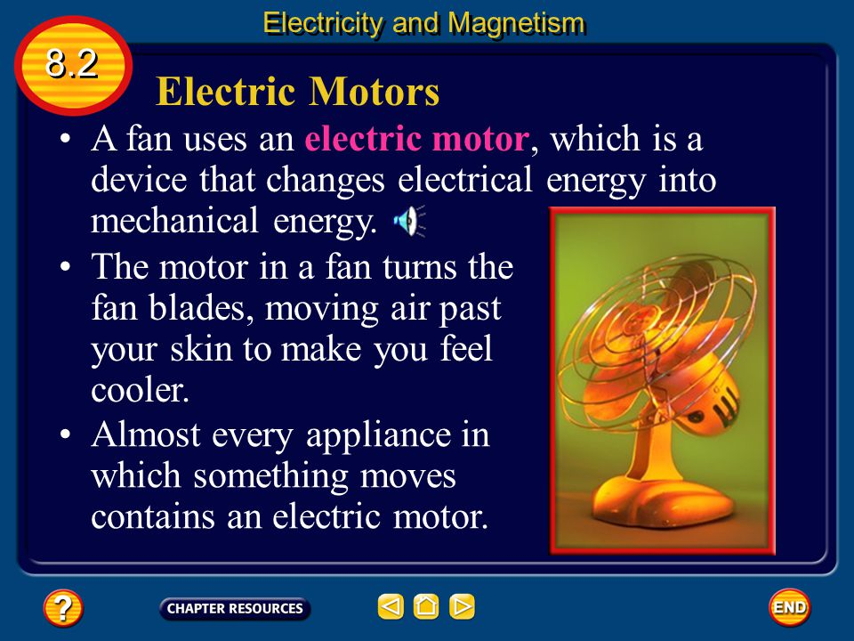 Using Galvanometers 8.2 Electricity and Magnetism Changing the current in the electromagnet causes the needle to rotate to different positions on the