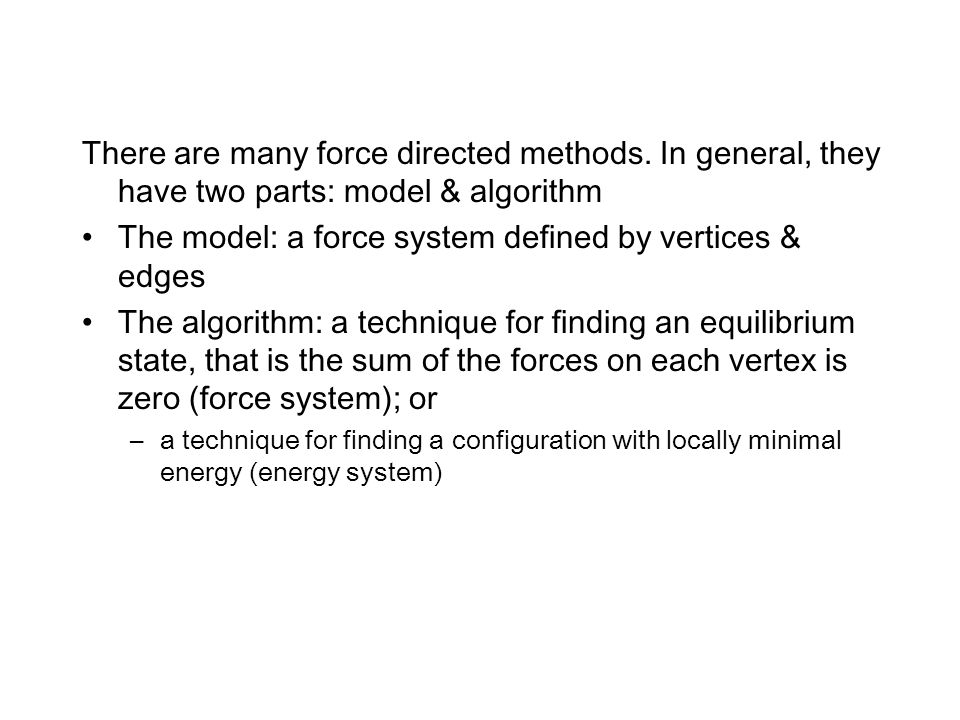 There are many force directed methods.