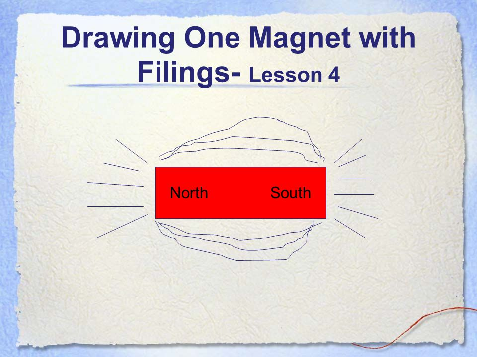 Magnetism- Lesson 4 Let's look at one magnet with iron filings.