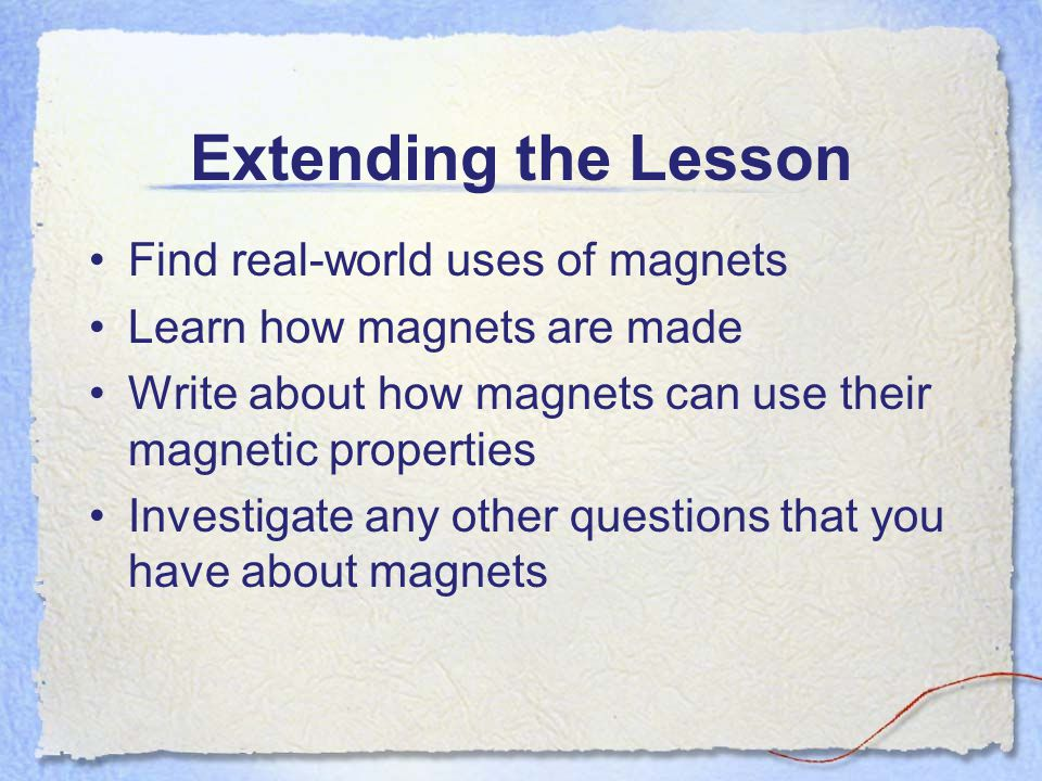 The BIG Ideas About Magnets Like poles… Repel Opposite poles… Attract What kinds of materials are magnetic.