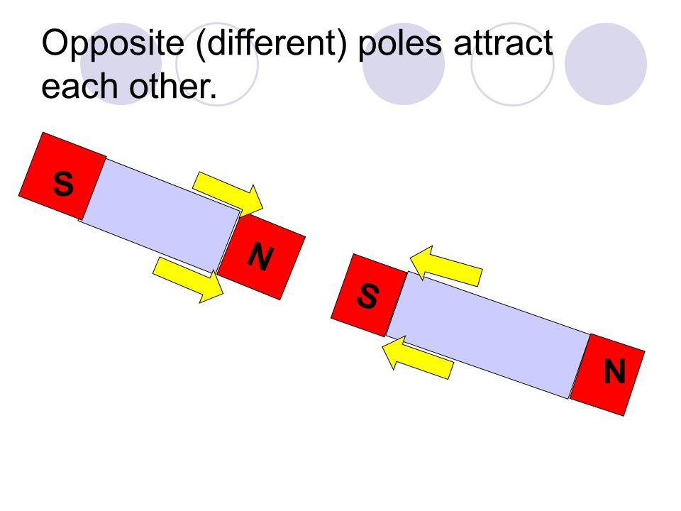Like (similar) poles repel each other. S S N N