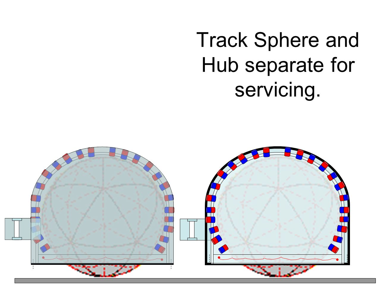 Track Sphere and Hub separate for servicing.