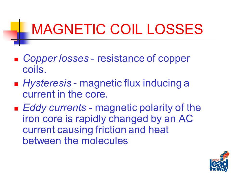 MAGNETIC COIL LOSSES Copper losses - resistance of copper coils.