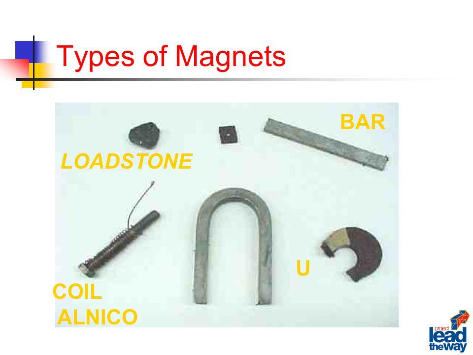 Types of Magnets LOADSTONE BAR U COIL ALNICO