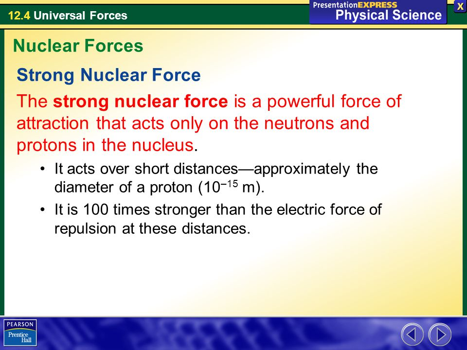 12.4 Universal Forces Assessment Questions 1.What are the only forces that can both attract and repel.