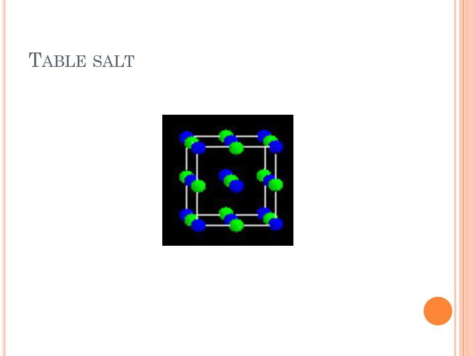 T ABLE SALT