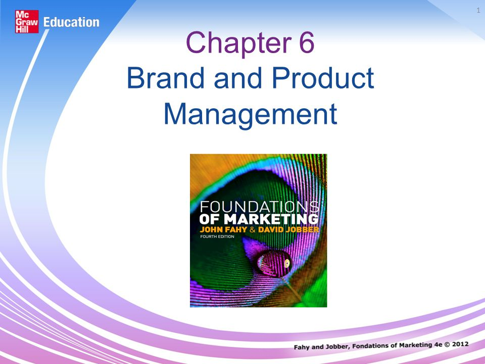 1 Chapter 6 Brand and Product Management