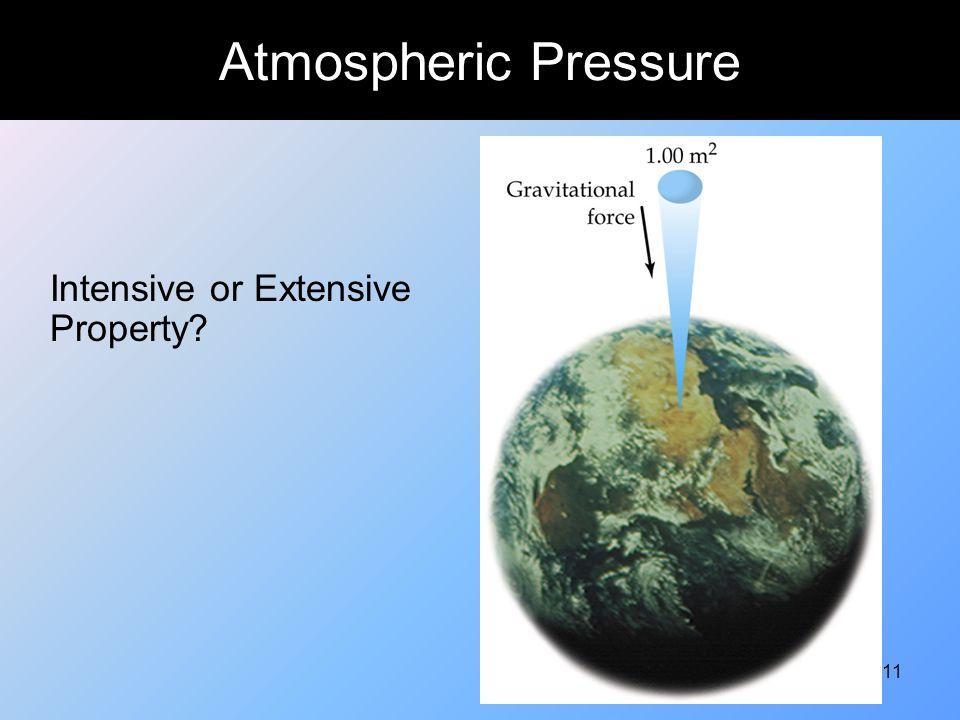 11 Atmospheric Pressure Intensive or Extensive Property?