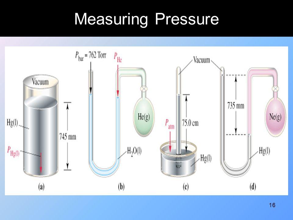 16 Measuring Pressure